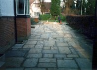 Zoom in: Natural York stone driveway